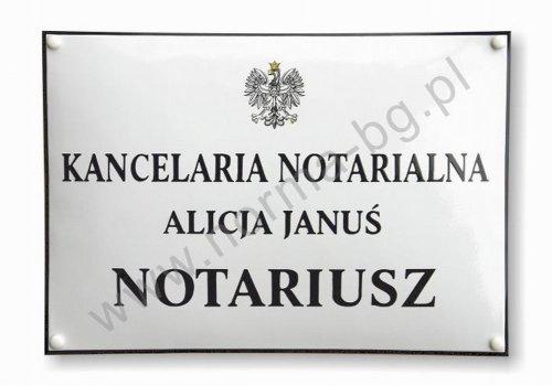 Tablica do kancelarii notarialnej